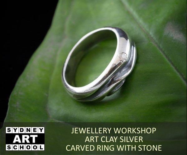 Art Clay Silver - Carved Ring