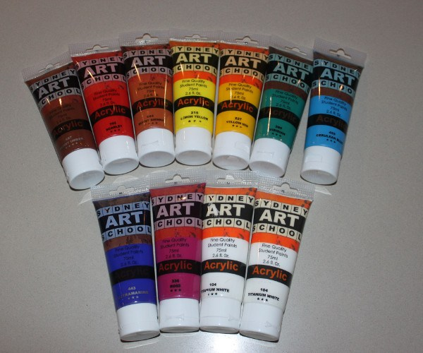 Sydney Art School Student Acrylic Paint Set 11 x 75ml tubes