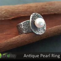 Art Clay Silver Australia - Antique Pearl Ring.jpg