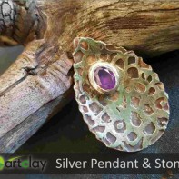 Art Clay Silver Australia - Pendant with CZ Stone.jpg