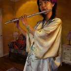 The Girl With Her Flute by Apple Yin Moran 2009.jpg
