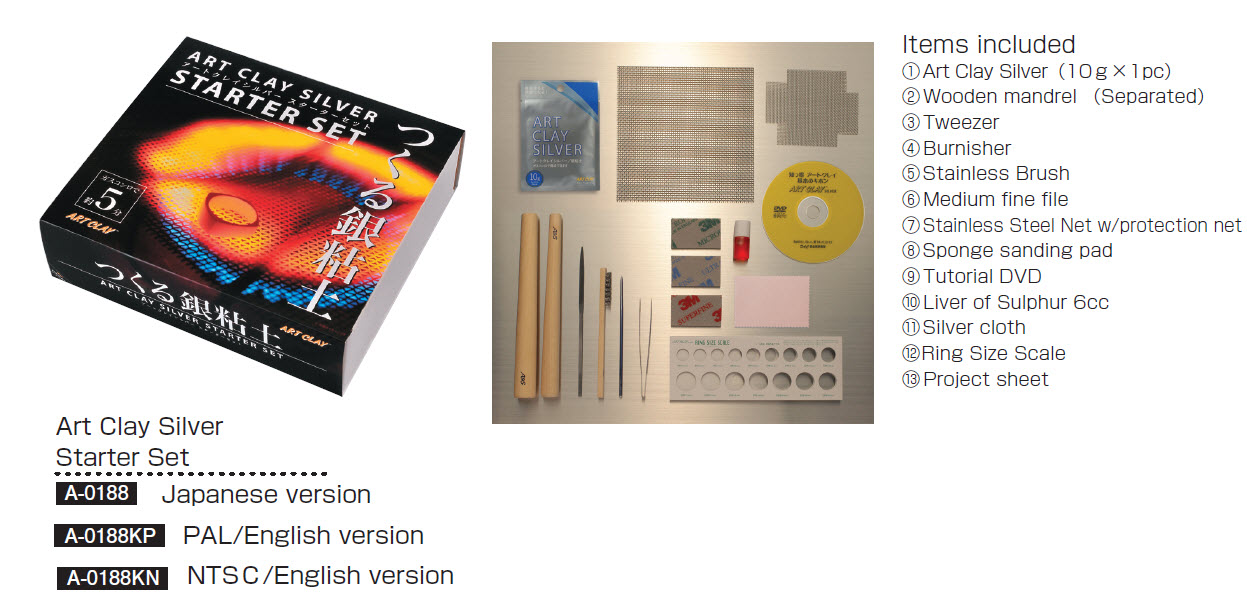 A 0188KP Art Clay Silver Starter Kit