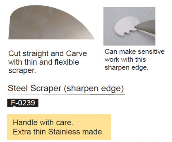 Steel Scraper for Metal Clay