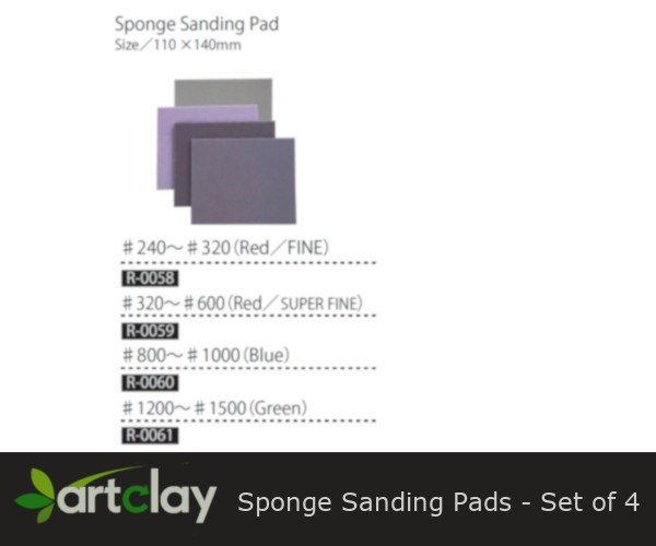 R-0058 - 61 - 3M Sponge Sanding Pads - Set of 4
