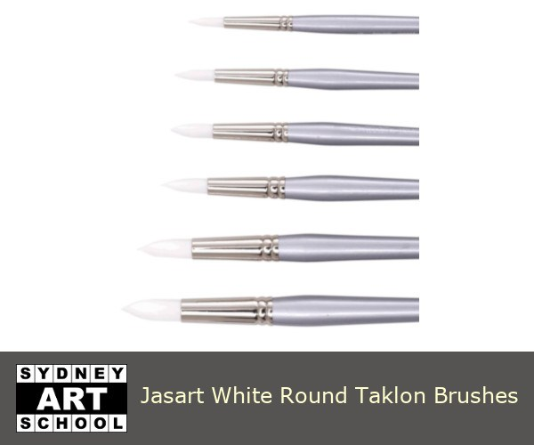 jasart-white-round-taklon-brushes-sas