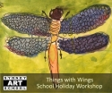 school holiday art things with wings