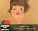school holiday art self portrait