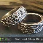 Art Clay Silver Australia - Textured Silver Rings.jpg
