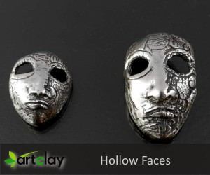 Silver Clay Project - Hollow Faces