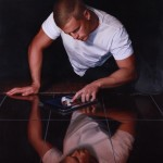 Narcissus 2.0 - after Caravaggio_ Oil on Linen_ Finalist and Winner of Kennedy Prize 2014.jpg